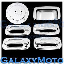 GMC Yukon+XL Triple Chrome 4 Door handle+W/PSG Keyhole+Tailgate+Gas Cover SUV