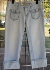 "Low Rise Cuffed Legs Cropped Pant's Capri's Sz. 11/12 34"" Waist Juniors"
