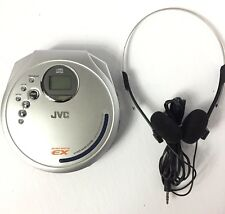 Jvc Xl-Pg37Sl Portable Cd Player W/ Hyper-Bass, Anti Skip, Headphones Silver
