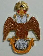 Freemason Ancient & Accepted Scottish Rite 33rd Degree Car Emblem
