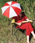 FREE SHIPPING 2 Sun Umbrella Patio Shade Camping Beach Parasol Director Chair