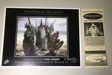 Vintage Kindling of the Spirit PosterSigned+Coa Edward Beard #269/2000 1995 Lotr