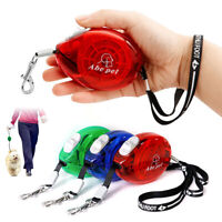 3m Pet Dog Retractable Lead Extending Small Dog Puppy Walking Leash Chihuahua