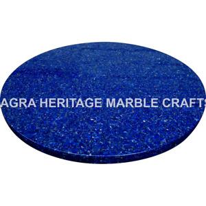 "15"" Lapiz Lazuli Inlaid Random Marble Bedroom Table Top Hallway Decor H4899A"