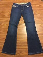 Kids Girls Frankie B. Jeans Size 12. Butter Fly Accent Dark Wash Flare