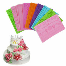 Silicone Fondant Cake Embossing Gum Paste Decorating Baking Mold Mould XC
