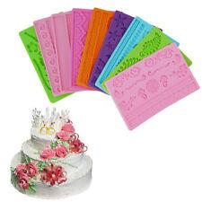 Silicone Fondant Cake Embossing Gum Paste Decorating Baking Mold Mould XC