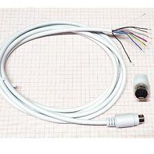 Mini din conector 9 polos con cable 2m (blindados) (almacén a01a)