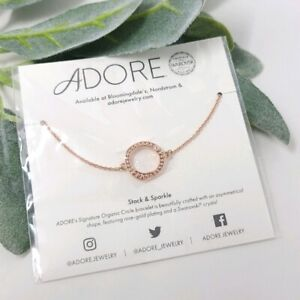ADORE Swavroski Circle Rose Gold Bracelet NWT