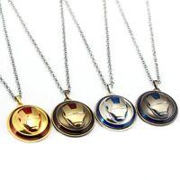 Iron Man Marvel Avengers Necklace Fashion Stainless Steel Pendant