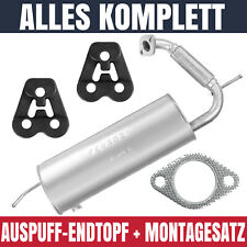 Endschalldämpfer Auspuff Endtopf für SMART FOR TWO Coupe W451 07-14 0.8i Coupe