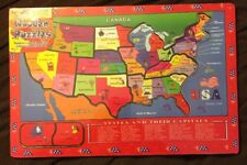 World Kids Toy 706 USA States & Capitals 11 Piece Wooden Puzzle