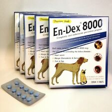 Pet Tablet Pill EnDex8000 Remove Prevent Ticks and Fleas for Dogs Cats (1 Pack)