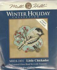 Little Chickadee Counted Cross Stitch Glass Bead Mill Hill