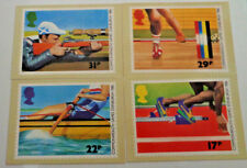 Lot of 4 Royal Mail Post Cards Commonwealth Games Edinburgh 1986 from Stamps