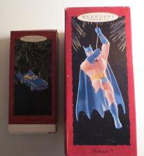 Hallmark Set Of Batman & Batmobile Ornaments MIB