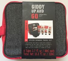 Giddy Up And Go Men's Travel Toiletry Bag Dopp Kit Body Wash Spiced Redwood