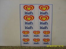 CORGI   WALLS   ICE CREAM VAN  CODE 3  NEW REPLACEMENT STICKER SET