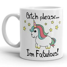 Funny Unicorn Coffee Mug Bitch Please I'm Fabulous 11oz Ceramic Cup Gift for Her