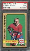 1972-73 O-PEE-CHEE #77 JACQUES LEMAIRE PSA 9 CANADIENS HOF  *CG2944