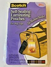 3M Self Sealing Laminating Bag Tags (Pack of 5) NEW
