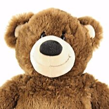 """Build a Bear Chocolate Brown Teddy Smile Stuffed Plush BABW 15"""" Celabrate Party"""