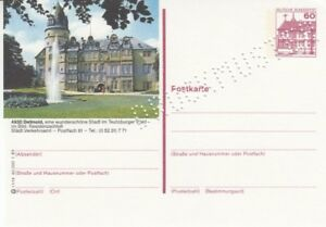 P 138  Serie l  Burgen & Schlösser  Bildpostkarte  Druckmuster   Detmold  **