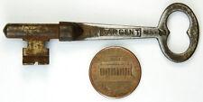 Vintage Antique Sargent Flat & Round Skeleton Key #2, Patent May 1888, Original