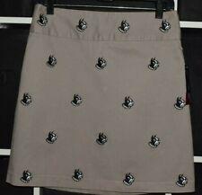 Pennington & Bailes Georgia Black White Bulldogs Skirt, Tan w/Logos Size 2 NWT!