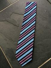 Paul Smith 57% SEDA / 43% Algodón Multicolor Diagonal Rayas Corbata -9 cm hoja
