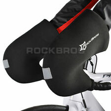 RockBros Winter Cycling Gloves Handlebar Mittens Hand Warmers Covers Black