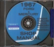 MERCURY 1967 Comet, Caliente, Cyclone, Capri, Cougar and XR-7 Shop Manual CD