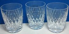 Crystal glass tumblers set of 3