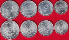 Albania set of 4 coins: 5 - 50 qindarka 1964 UNC