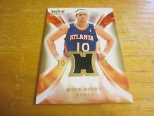 Mike Bibby 2008-09 Hot Prospects Hot Materials #HMMB Relic Card Atlanta Hawks