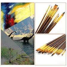 12Pcs Fine Artists Paint Brushes Acrylic Painter Sizes Brush Oil Painting Set