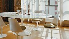 Tavolo TULIP di Eero Saarinen ovale - cm 205 x 100 - marmo calacatta