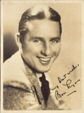BEN LYON Hollywood Leading Man Silent Movie Actor Vtg 1920s 6.25x8.5 Photo