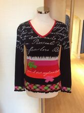 Olivier Philips Sweater Size 20 BNWT Black Pink Red Orange RRP £134 Now £59