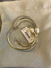 NWT Kendra Scott Amiya  Cuff Bracelet In Gold Pearl w Pouch $128