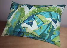 New 18x12 Tropical Palm Leaf Indoor Outdoor Lumbar Pillow -Sun & Water Resistant