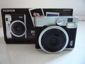 Fujifilm Fuji Instax Mini 90 NEO Classic Camera Black with case.