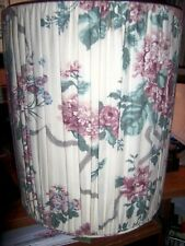 VINEYARD, INC. Victoria Pleated Fabric Covered Waste Basket /Plastic Basket Incl