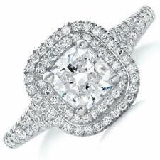 GIA Certified Diamond Engagement Ring 18k White Gold 2.38 carat Cushion Cut