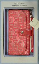 LIZ CLAIBORNE LADIES PINK CLUTCH WRISTLET FOR iPOD NANO WALLET NEW WITH BOX