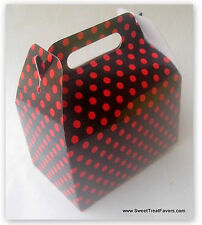 Black Red Polka Party Supplies Boxes Birthday Decoration Gable Loots x12 Dots Nw