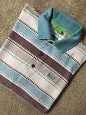 "Hugo Boss Green Label Rosa ""Patrick"" Regular Fit S/S Polo Camisa Top Medio"
