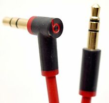 NEW GENUINE Beats Red/Black 3.5mm Headphone Cable Dr. Dre Solo HD Studio 2 Pro
