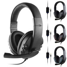 3.5 mm Jack Wired Handsfree Earphone Gaming Headset Stero w/ Mic For PC PS4 USA