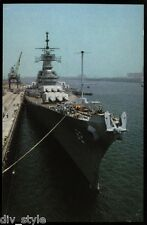 USS New Jersey BB-62 postcard US Navy WWII Battleship [card1]